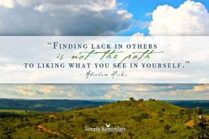 finding lack in others